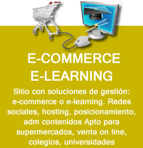 e-commerce e-learning, sitio web con e commerco o e learning, autoadministrables
